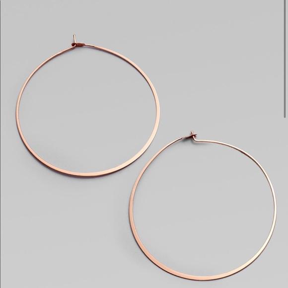 a0999422cf7f3 Michael Kors Rose Gold Hoop Earrings